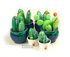 Painted rocks  cactus