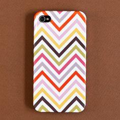 rainbow chevron iphone case