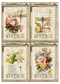 Images Vintage, Vintage Tags, Vintage Labels, Vintage Ephemera, Decoupage Vintage, Decoupage Paper, Vintage Paper, Decoupage Chair, Decoupage Letters