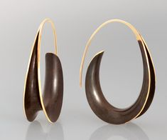 Bronze Oval Earrings: Nancy Linkin: Gold & Bronze Earrings | Artful Home