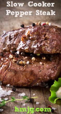 Slow Cooker Pepper Steak!!  Full of Flavour, Fork Tender and Soooo Easy!!