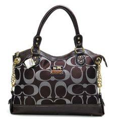 Coach Legacy Signature Brown Satchels$44.99| Trendy Women Fashion.