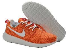 new concept d04ea 3d5ad Nike Roshe Run Womens,Nike Roshe Run Pattern - Fast Shipping Nike Roshe Run  Pattern Women Orange White Shoes
