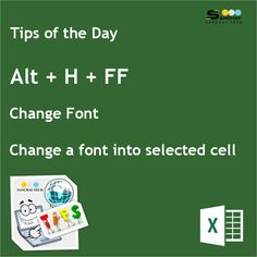 Are you aware with this #ShortcutKey ?? Using Alt +H+FF in #MicrosoftExcel to change font.