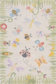 Classics Friendly Bugs Rug