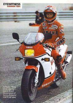 Kenny Roberts & Yamaha RZ 500 V4.