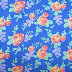 Aunt Grace LILAC purple White flowers 1930/'s style by the 1//2 MTR cotton fabric