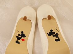 Mickey and Minnie Wedding Shoe Decals High Heel Decals Shoe Decals for Wedding Wedding Shoe Decals Disney Shoe Decals Vinyl Shoe Decal