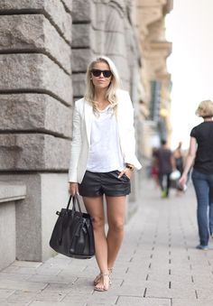 LEATHER SHORTS : P.S. I love fashion by Linda Juhola