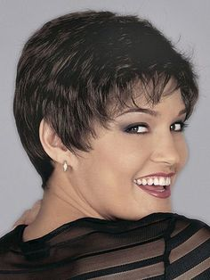 Super Short Side Bang Heat-Resistant Short Curly Spiffy Sexy Style Synthetic Hair Wig For Women