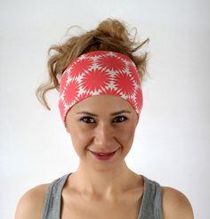 Pilates headband, Hairband, Yoga Headband, Workout Headband, Fitness Headband, Wide Headband, big flower, white, pink, nonslip by ChamomileAccessories on Etsy https://www.etsy.com/listing/231333871/pilates-headband-hairband-yoga-headband