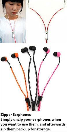 Zipper headphones. Zip them up when it's time for storing... this would save me a whole load of frustration!