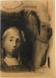 Odilon Redon (1840–1916). Young Girl in an Interior, 1905.