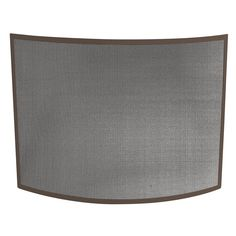 UniFlame Curved Bronze Single-Panel Fireplace Screen-S-1667 - The Home Depot 41wx31h  $99.00