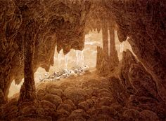 Caspar David Friedrich - Two Skeletons in a Cave. 1826