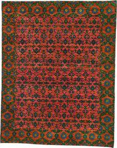 Orange 7' 10 x 10' Sari Rug | Oriental Rugs | eSaleRugs