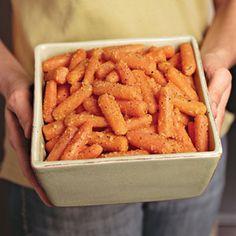orange-ginger glazed carrots