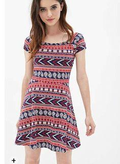 Tribal print skater dress forever 21
