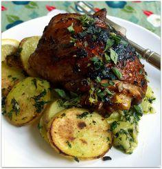 balsamic lemon chicken and lemon herbed potatoes