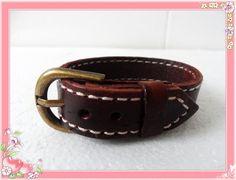 Bangle buckle bracelet leather bracelet men by jewelrybraceletcuff, $7.00