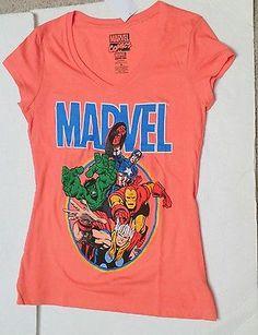 marvel Superheroes hulk shirt small Juniors tshirt coral womens top new comics