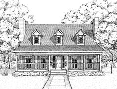 House Plan 41022 | Country Plan with 1604 Sq. Ft., 3 Bedrooms, 3 Bathrooms at family home plans