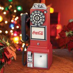 COCA COLA OLD FASHION RETRO 1950 PAYPHONE COKE VINTAGE ROTARY DIAL TELEPHONE
