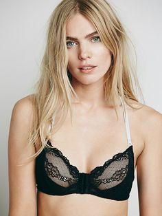 06c9a4cd174cb6 FREE PEOPLE black lace racer back front close bra FREE PEOPLE black lace