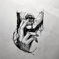 Likes, 6 Comments – G. Sketch Tattoo Design, Tattoo Sketches, Tattoo Drawings, Art Sketches, Tattoo Designs, Tattoo Ideas, Dark Art Drawings, Cool Drawings, Dark Art Paintings