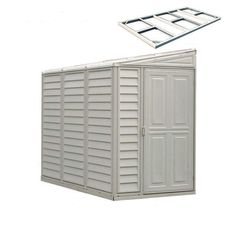 DuraMax Building Products (Common: x Actual Interior Dimensions: x Sidemate Lean-to Storage Shed at Lowe's. Ideal for smaller yards, this vinyl storage shed creates the perfect place to store your outdoor equipment. Vinyl Storage Sheds, Vinyl Sheds, Storage Shed Plans, Storage Spaces, Garage Storage, Deck Storage, Tool Storage, Backyard Storage, Outdoor Storage Sheds