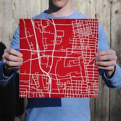 The Ohio State University   City Prints Map Art