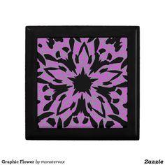 Graphic Flower Keepsake Boxes #Graphic #Flower #GiftBox #Keepsake #Trinket #Jewelry