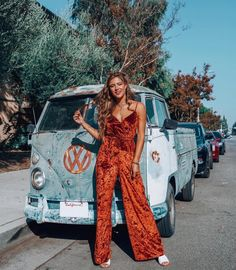 Back to the 70's with @jamienkidd in the Richards Jumpsuit | show me your mumu