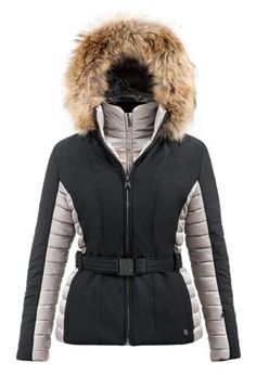 Poivre-Blanc-Stretch-Faux-Fur-Ladies-Ski-Jacket-Black-Champagne