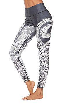 3337309bd5 COCOLEGGINGS Women's Octopus Patterned Sport Fitness Yoga... https://smile.