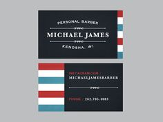 Michael James Personal Barber by Jeff Buchanan | Fivestar Branding – Design and Branding Agency & Inspiration Gallery