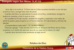 Misioneros de la Palabra Divina: EVANGELIO - SAN MATEO 13,47-53