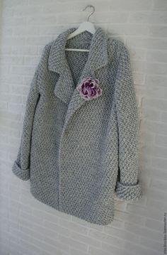 Купить Пальто Иней - серебряный, пальто, вязаное пальто, кардиган, кардиган вязаный, пальто женское