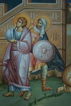 Byzantine Icons, Byzantine Art, Stages Of Writing, Roman Mythology, Greek Mythology, Archangel Raphael, Peter Paul Rubens, Religious Icons, Orthodox Icons