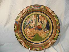 """Vintage Tlaquepaque Style Charger/Platter  Grained Petatillo  'Baxter'   14 7/8"""""""