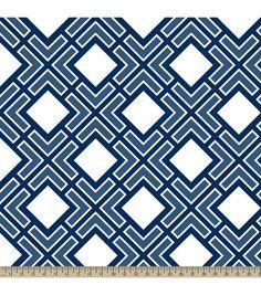Anti-Pill Fleece Fabric Diamond Geo Navy