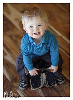 Little boy in blue!