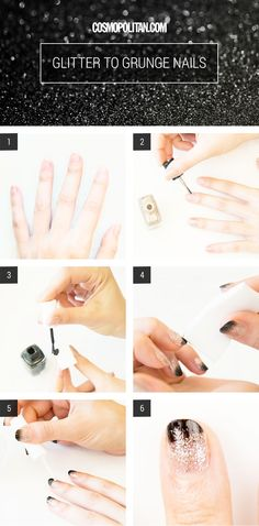 How to recreate these glitter ombre nails! Spring Runway Inspired Nail Art Looks - Cosmopolitan