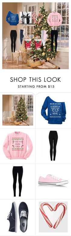 """""""ugly sweater party"""" by horizon-p ❤ liked on Polyvore featuring Topshop, NIKE, Converse, Vans, Draper James, Threshold, women's clothing, women, female and woman"""