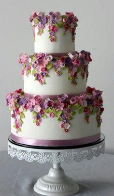 floral lavender cake