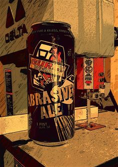 Abrasive Ale an Imperial IPA by Surly Brewing, Minnesota