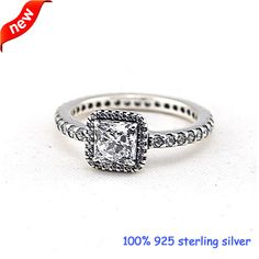 Compatible With European Jewelry Timeless Elegance Silver Rings Original 100% 925 Sterling Silver Jewelry Ring DIY Wholesale R58