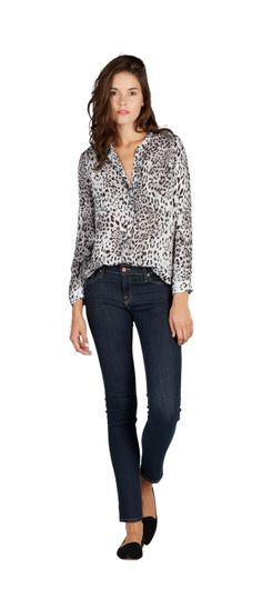 Work casual. <3 this printed top