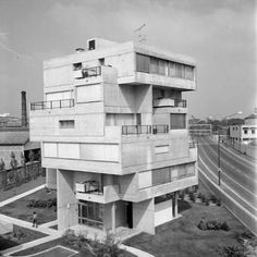 "brutgroup:  ""Apartment Building of Electricité de France (1967) in Ivry sur Seine, France, by Atelier de Montrouge #brutgroup photo via _BRUT  """