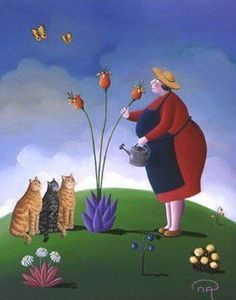 Women and Cats will do as they please. I Love Cats, Crazy Cats, Crazy Cat Lady, Illustrations, Illustration Art, She And Her Cat, Art Fantaisiste, Plus Size Art, Image Chat